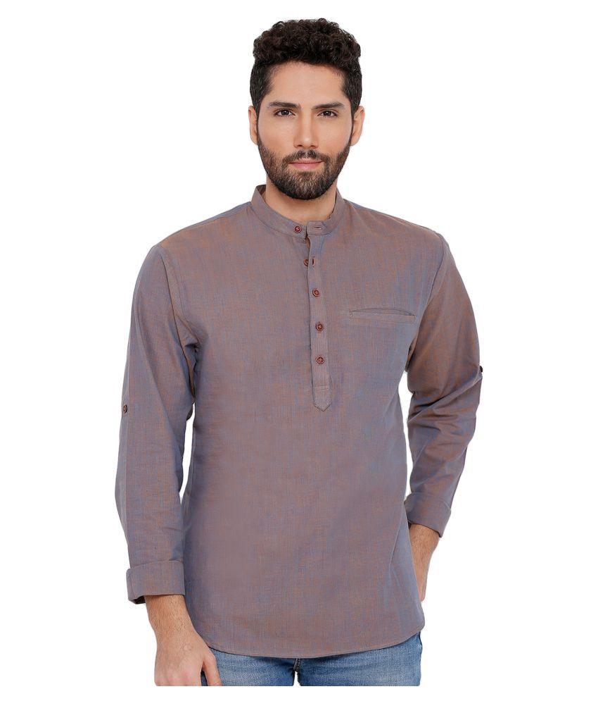 Salwar Studio Grey Cotton Kurta Single