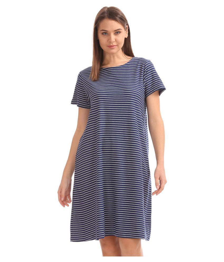 Cherokee Cotton Blue A- line Dress