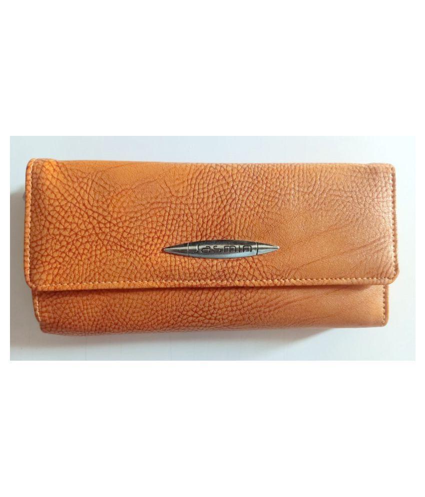 Jasmin Wood Brown Faux Leather Handheld