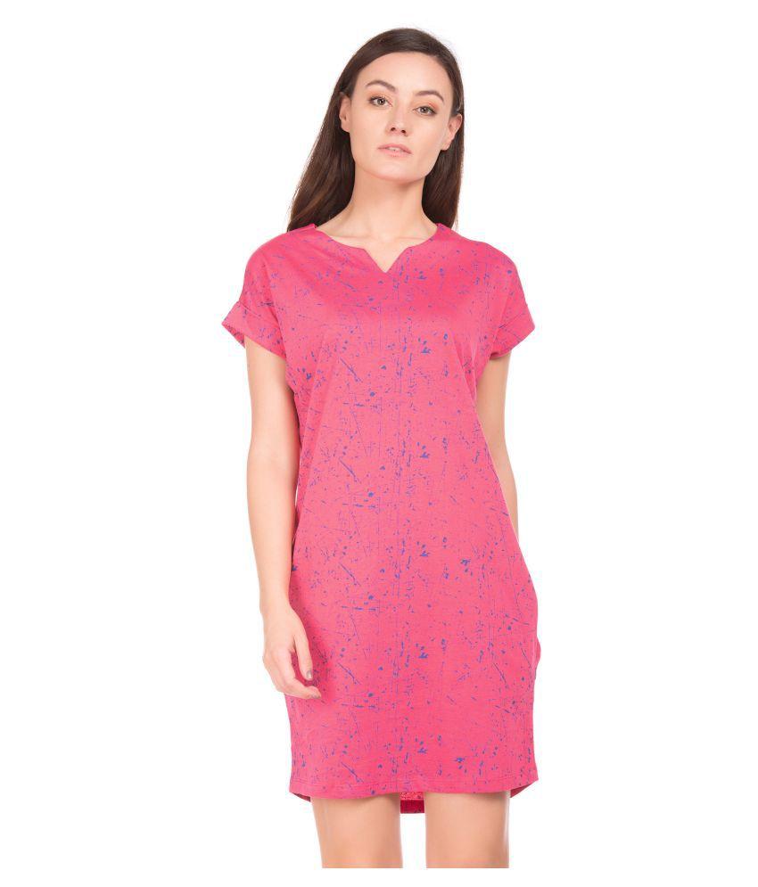 Sugr Cotton Pink Shirt Dress