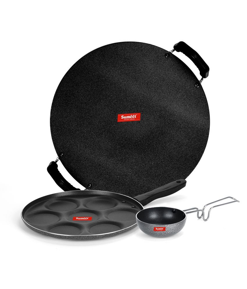 Sumeet Szary NonStick 3 Piece Cookware Set