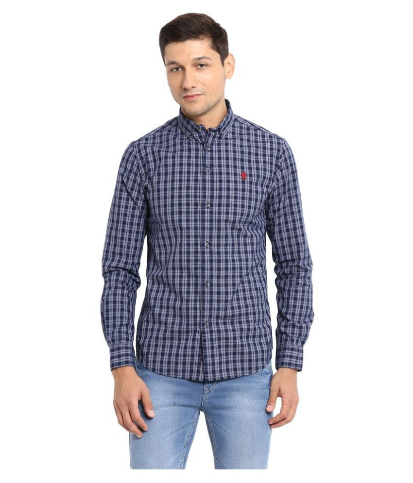 Red Tape 100 Percent Cotton Blue Shirt