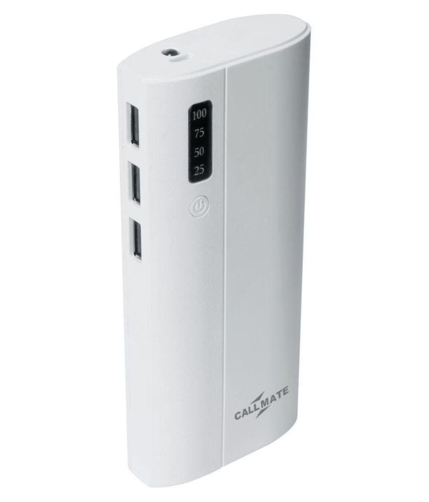 Callmate Stick 3U 10000  mAh Li Ion Power Bank White
