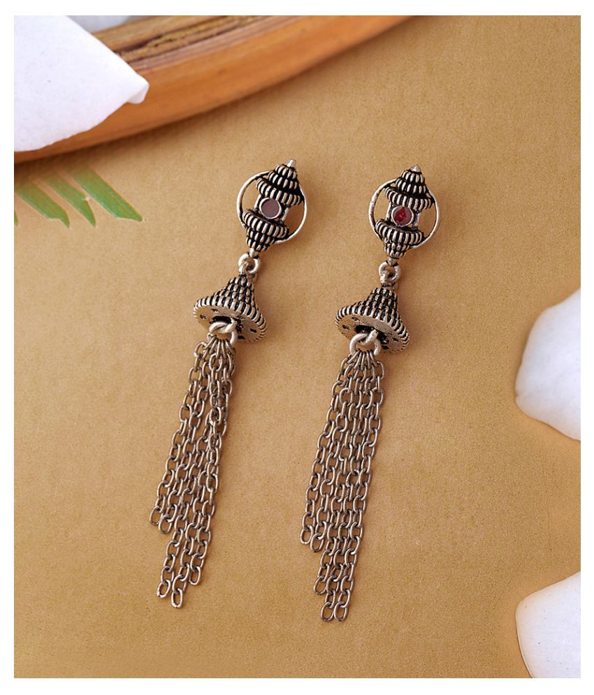 Temple of Love Ethnic Style Earrings