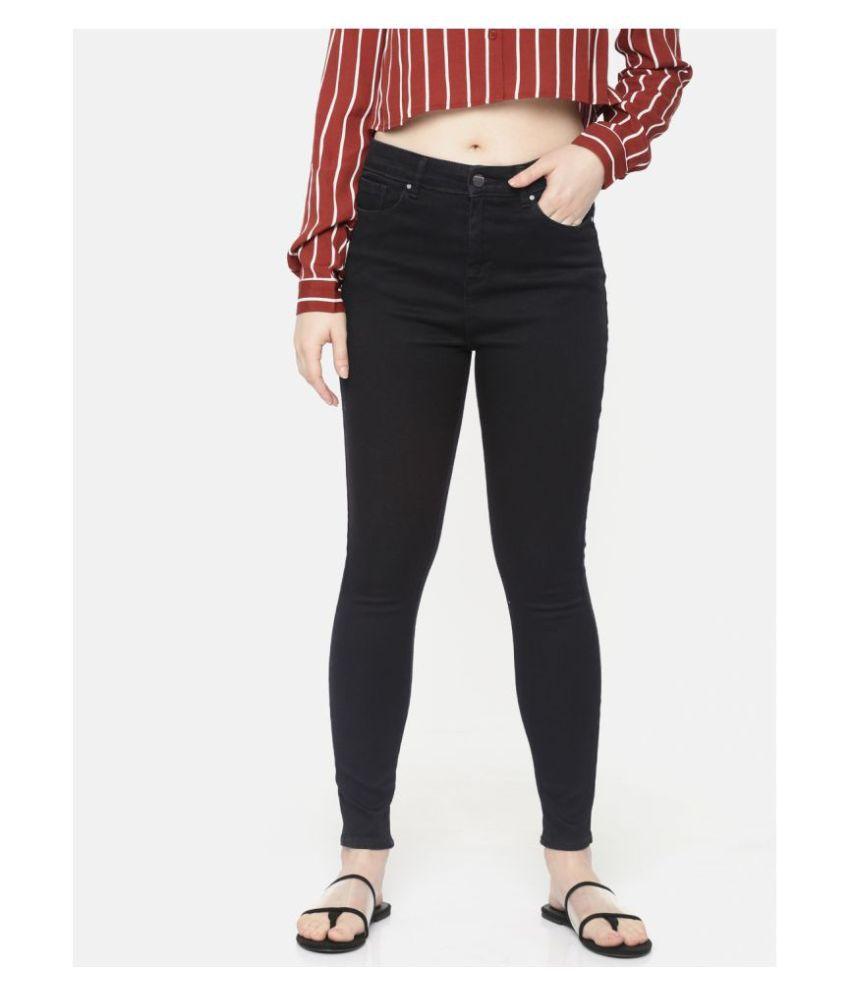 Spykar Cotton Lycra Jeans - Black