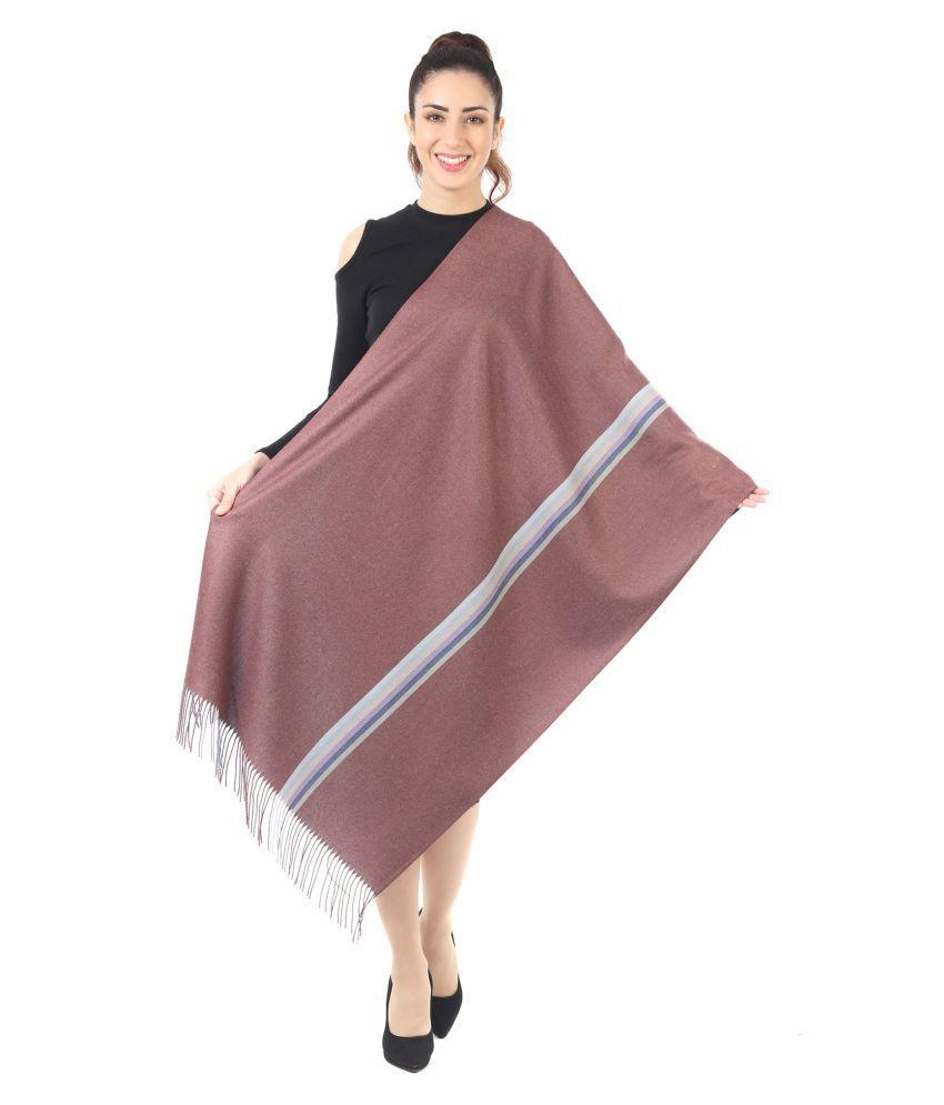 Innayya Brown Stripes Shawl