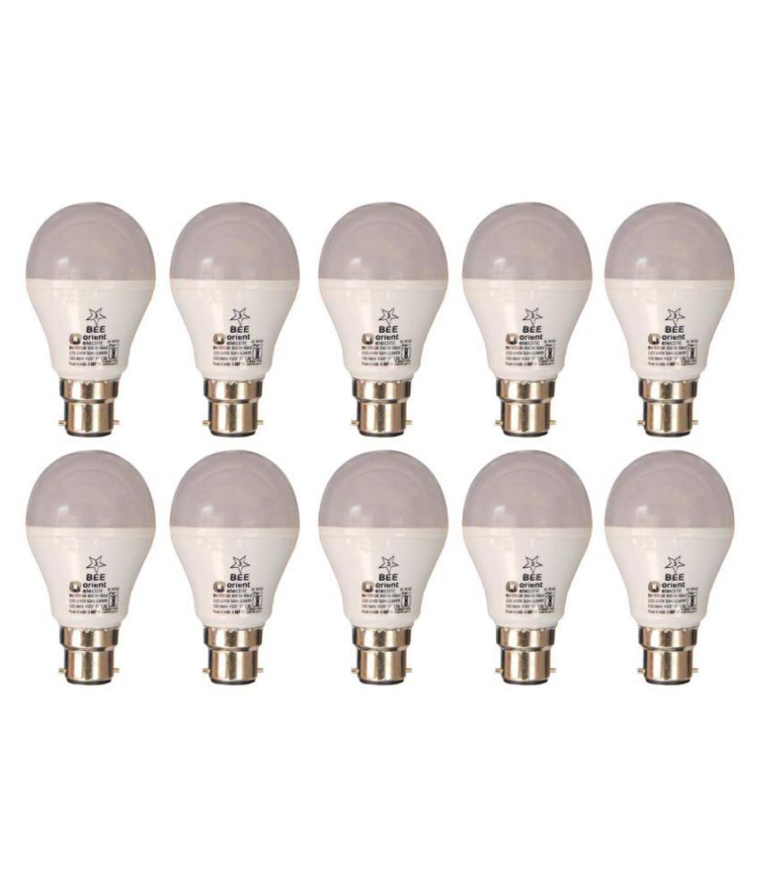ORIENT ELECTRIC 9W LED Bulbs Cool Day Light   Pack of 10