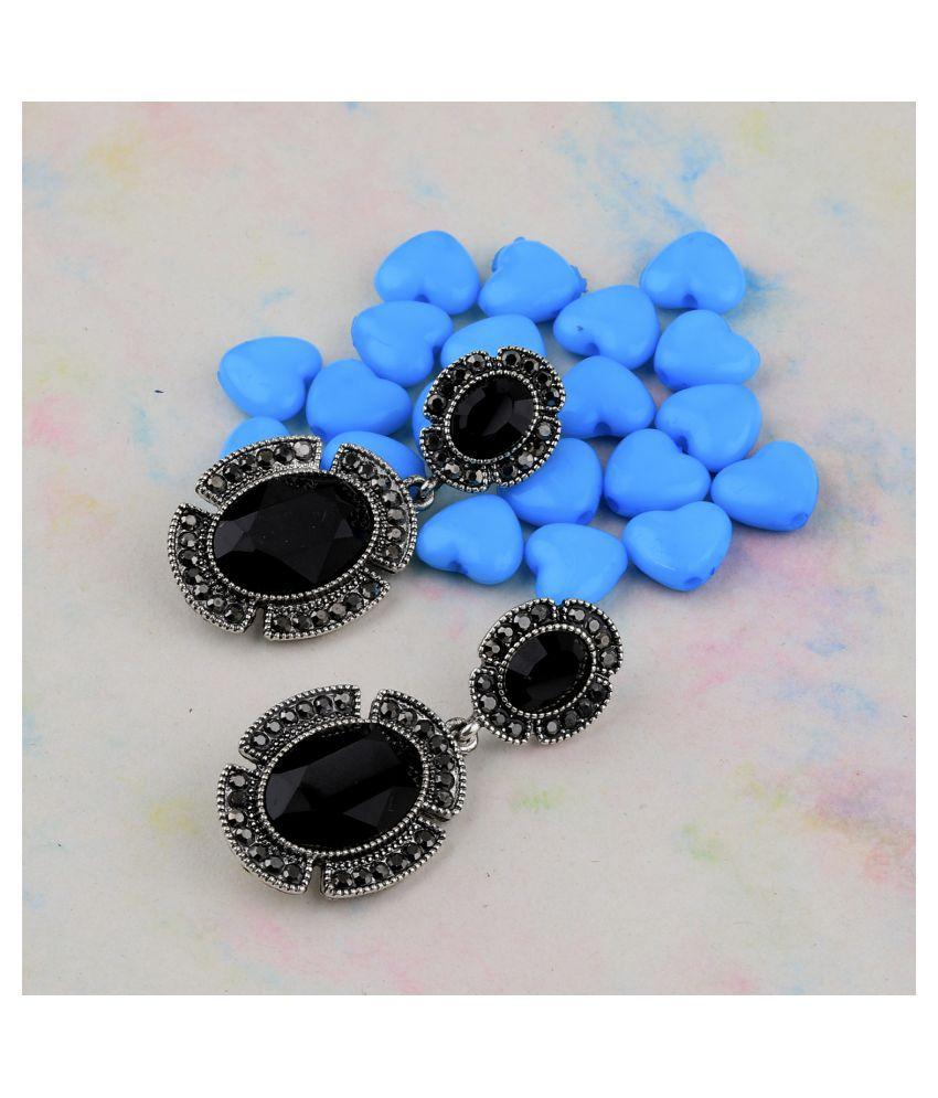 SILVER SHINE Charm Fancy Look Party Wear Diamond Dangle Earring For Women Girl