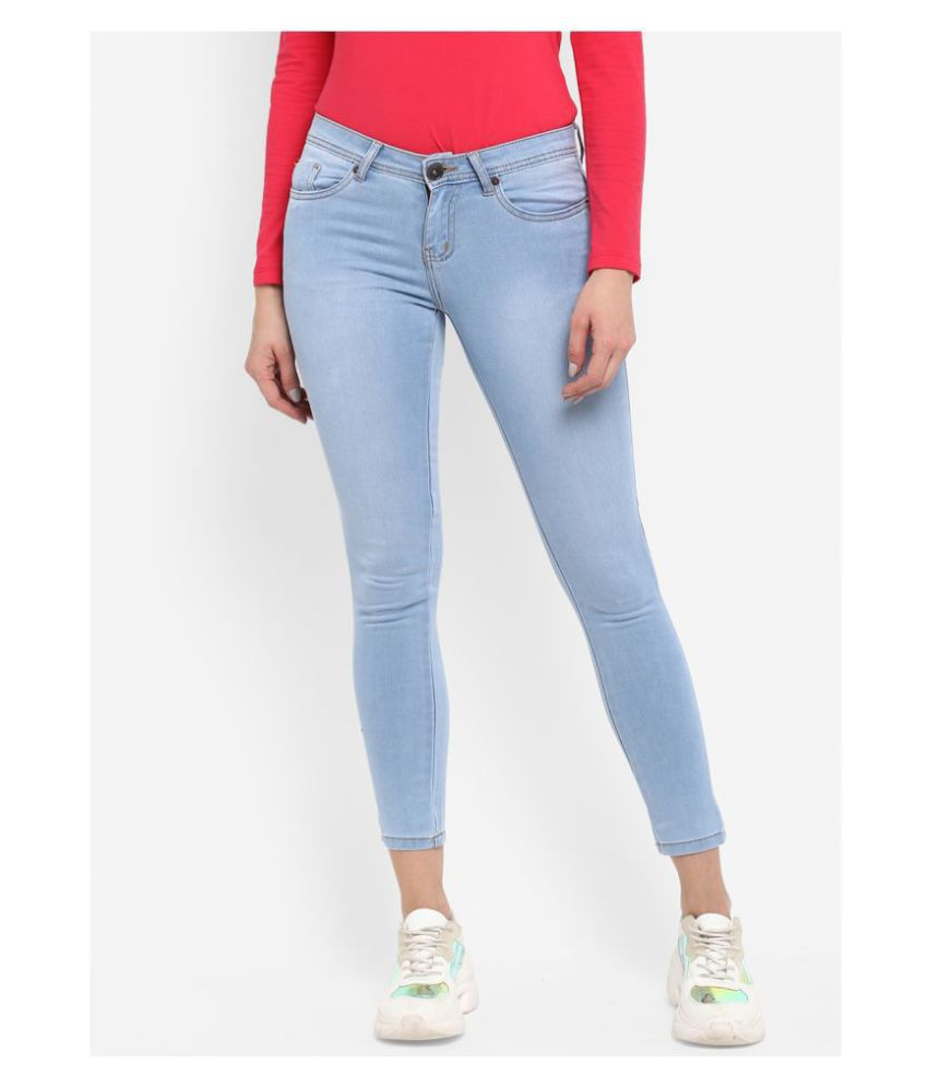 Urbano Fashion Cotton Lycra Jeans - Blue