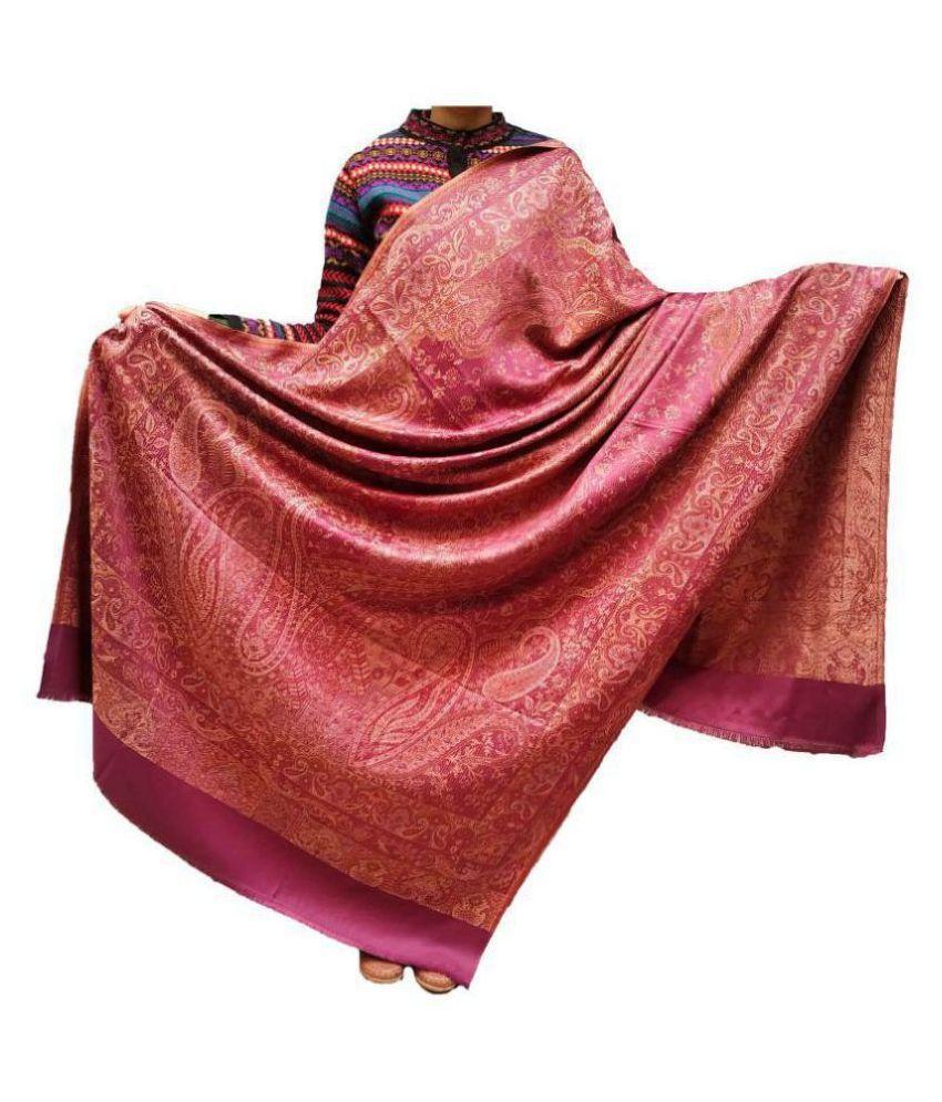 KASHMIRI Purple Loom-Woven Shawl