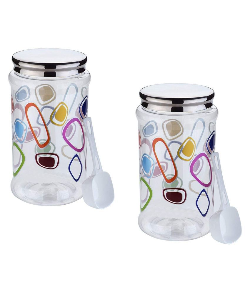 Mahi Sales Polycarbonate Dal Container Set of 2 4000 mL