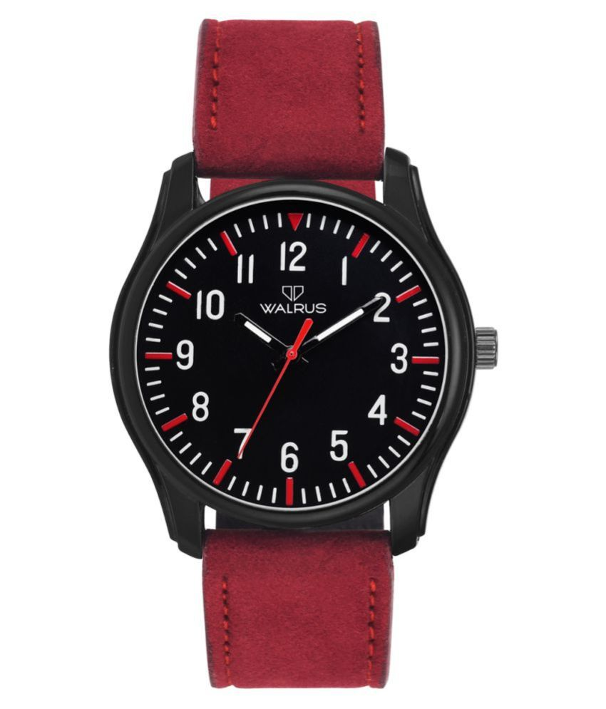 Walrus Casual Style Leather Analog Men's Watch