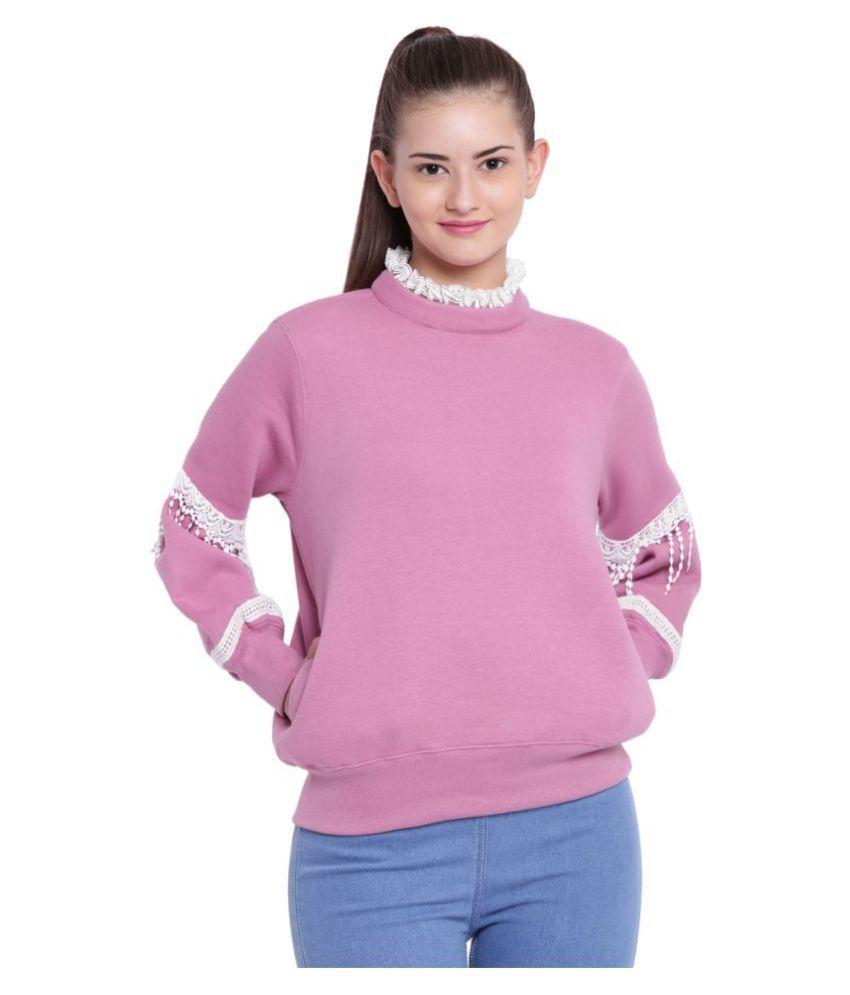 Texco Fleece Purple Non Hooded Sweatshirt