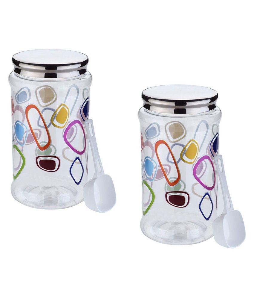 masvi enterprise duro pet jar (2 pcs) Polyproplene Food Container Set of 2 1500 mL