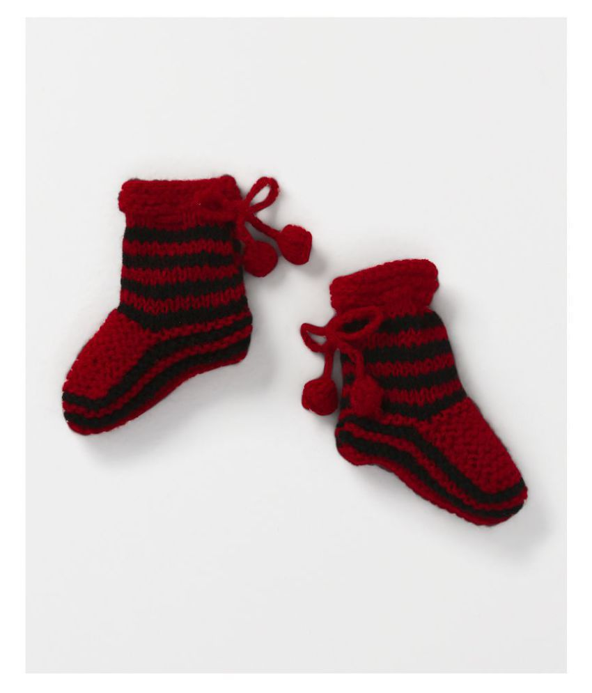 CHUTPUT Red MultiColor Booties