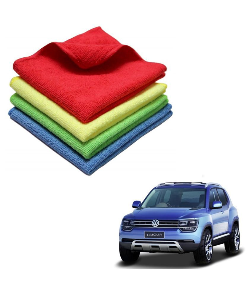 Kozdiko Microfiber Cleaning Cloth Car 300GSM 40x40 cm Pack of 4 For Volkswagen Tiguan