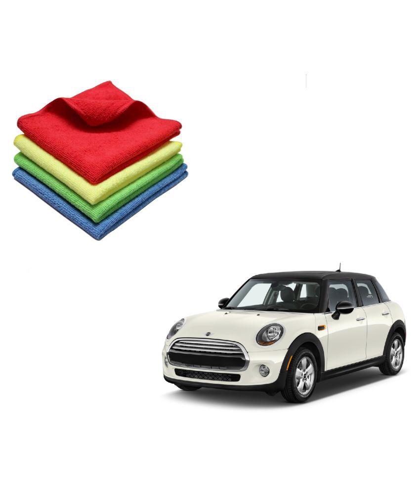 Kozdiko Microfiber Cleaning Cloth Car 300GSM 40x40 cm Pack of 4 For Mini Cooper