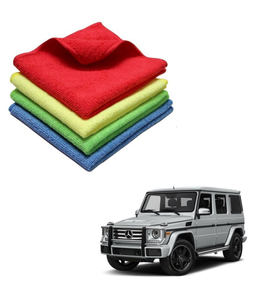 Kozdiko Microfiber Cleaning Cloth Car 300GSM 40x40 cm Pack of 4 For Mercedes Benz G-Class
