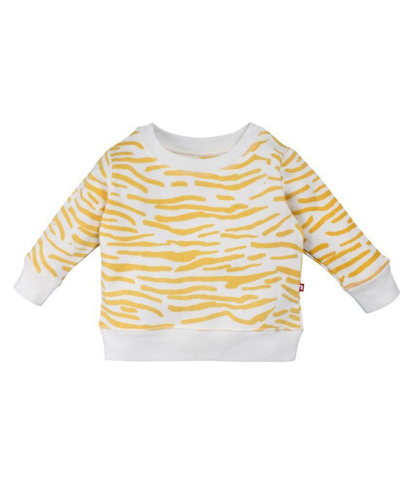 Nino Bambino Boys and Girls Organic Cotton Cream  Ls Sweat Shirt