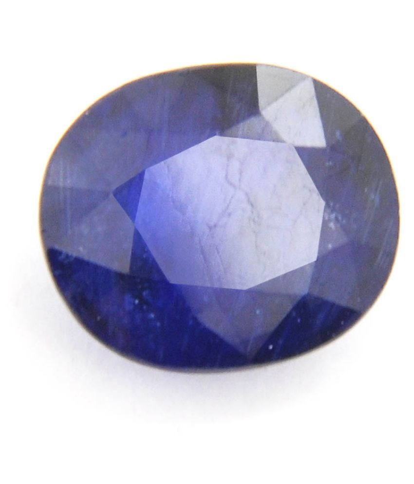 Gems Jewels Online 5.5 -Ratti Self certified Blue Blue Sapphire (Neelam) Precious Gemstone