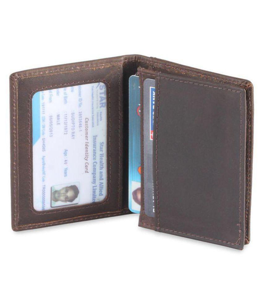 Hide&Sleek Leather Brown Casual Short Wallet