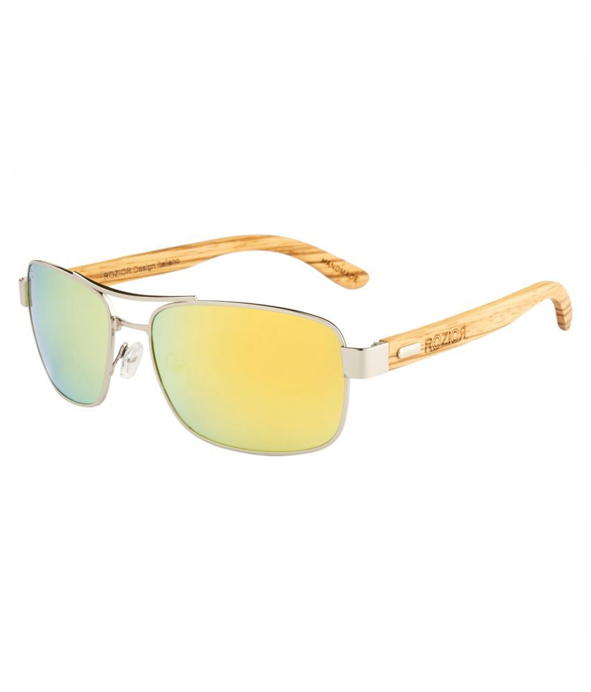 ROZIOR - Golden Rectangle Sunglasses ( Polarized RWP1701M3 )