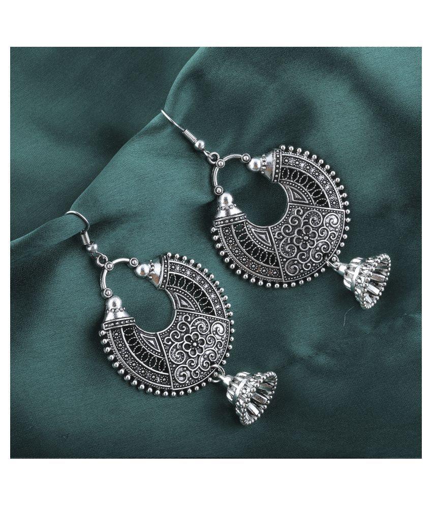Silver Shine Voguish Silver Fish Hook Earrings for Women