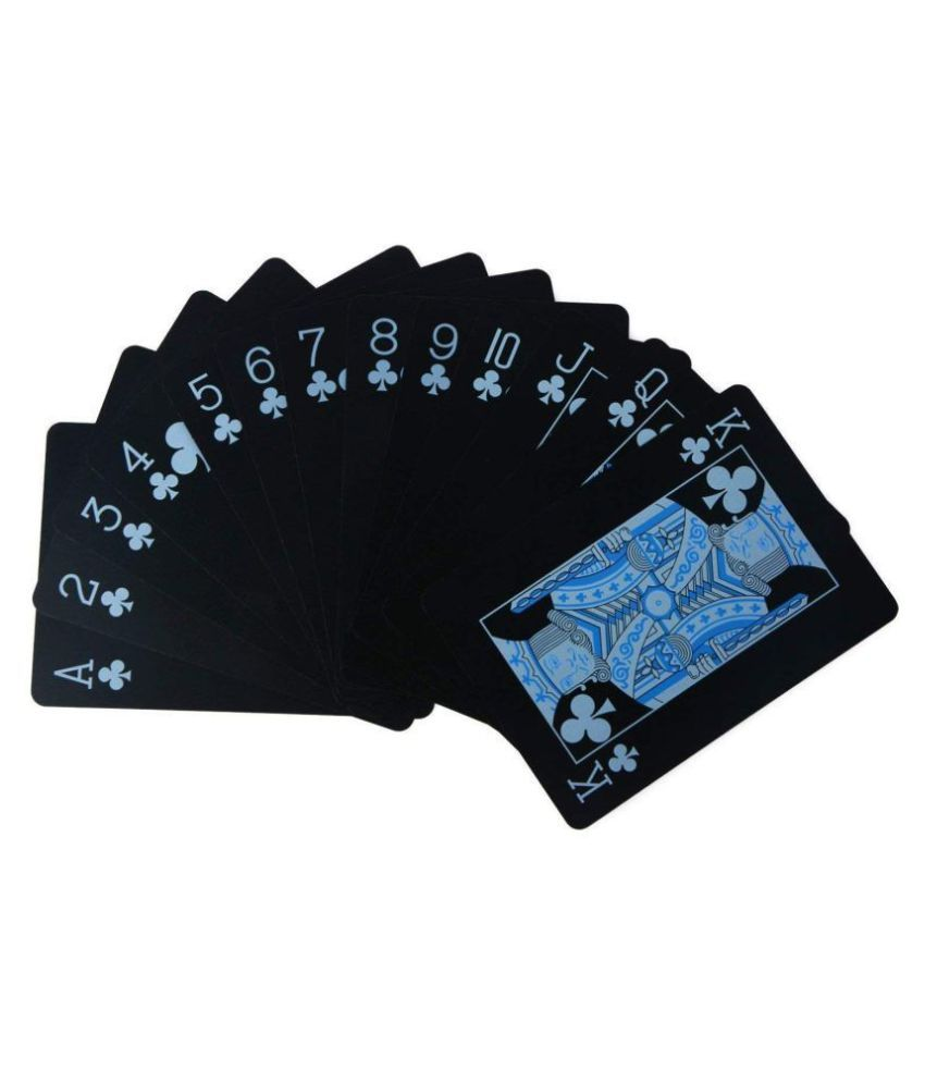 Black Unique Good Quality Waterproof Plastic Poker Playing CardS