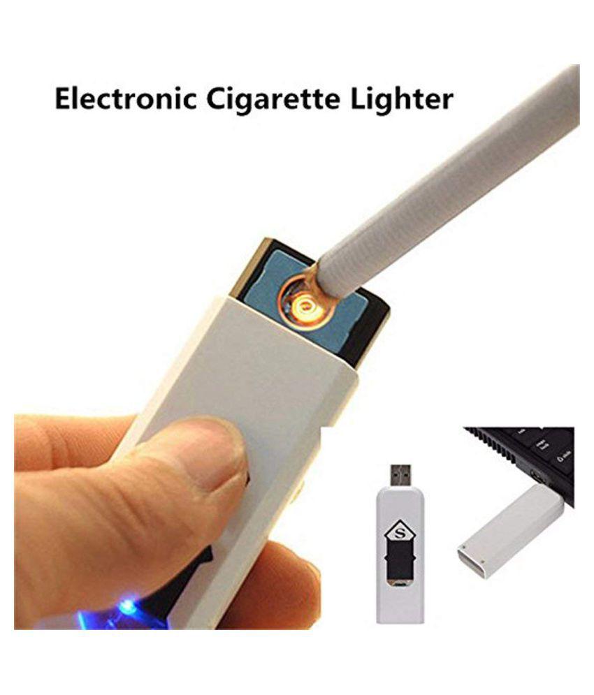 Aditi USB Lighter Car Cigarette Lighter White
