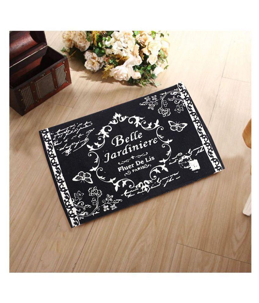 Fashion Art Black Single Anti-skid Floor Mat