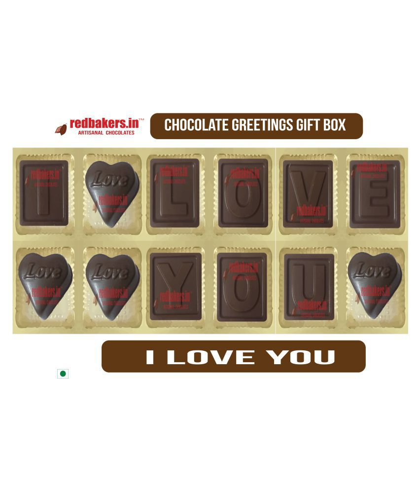 redbakers.in Chocolate Box I Love you Chocolate Greetings 180 gm