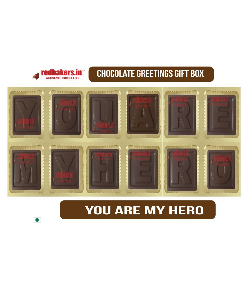 redbakers.in Chocolate Box You are my Hero Chocolate Greetings 180 gm