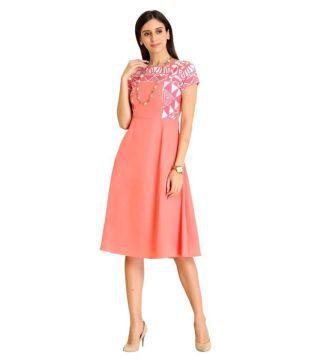 Raas Prêt Crepe Peach A  line Dress