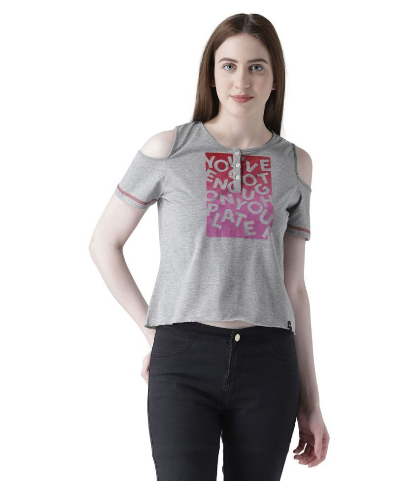 The Vanca Cotton Grey T-Shirts