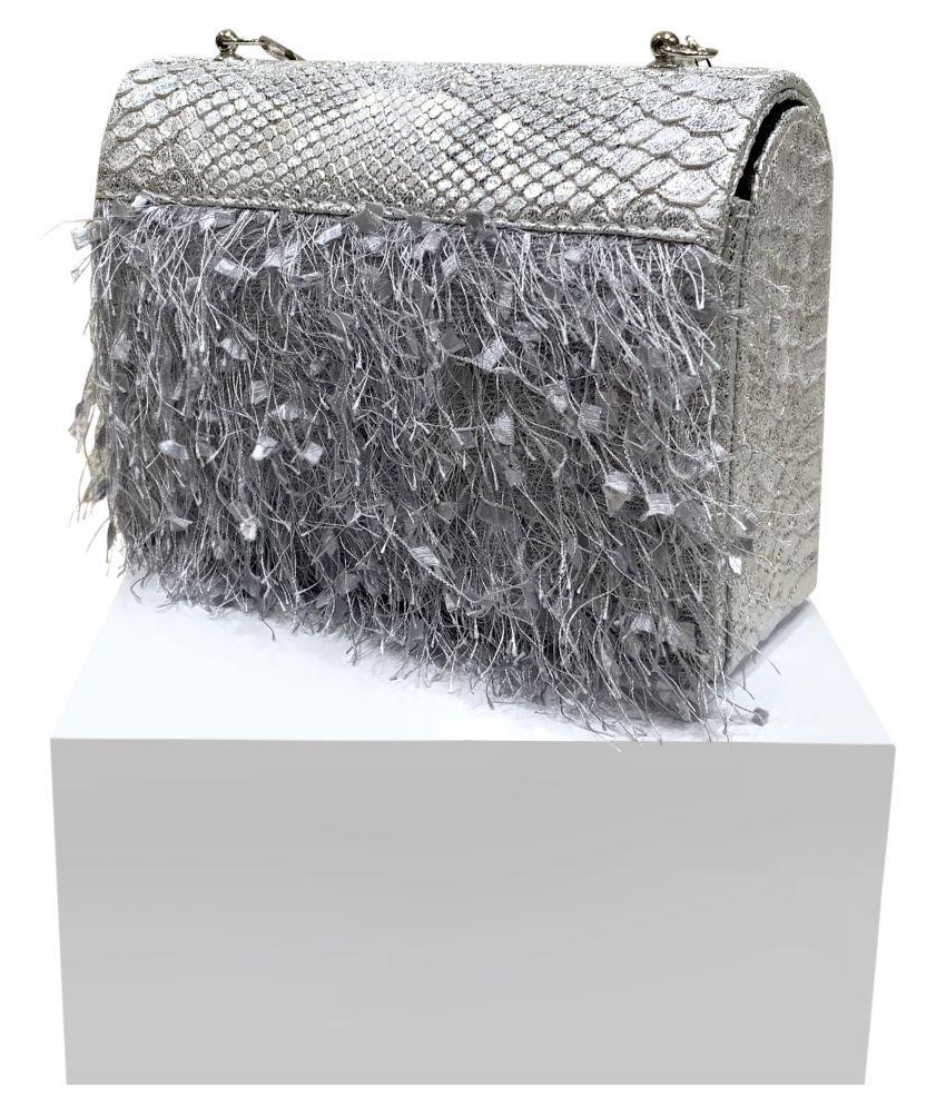 Cavallo Silver P.U. Sling Bag