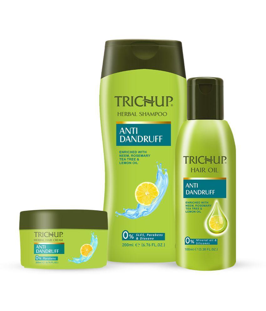 Trichup Scalp Nourishment Kit (Anti-Dandruff Oil 100 mL, Anti-Dandruff Shampoo 200 mL, Anti-Dandruff Cream 200 mL) Pack of 3