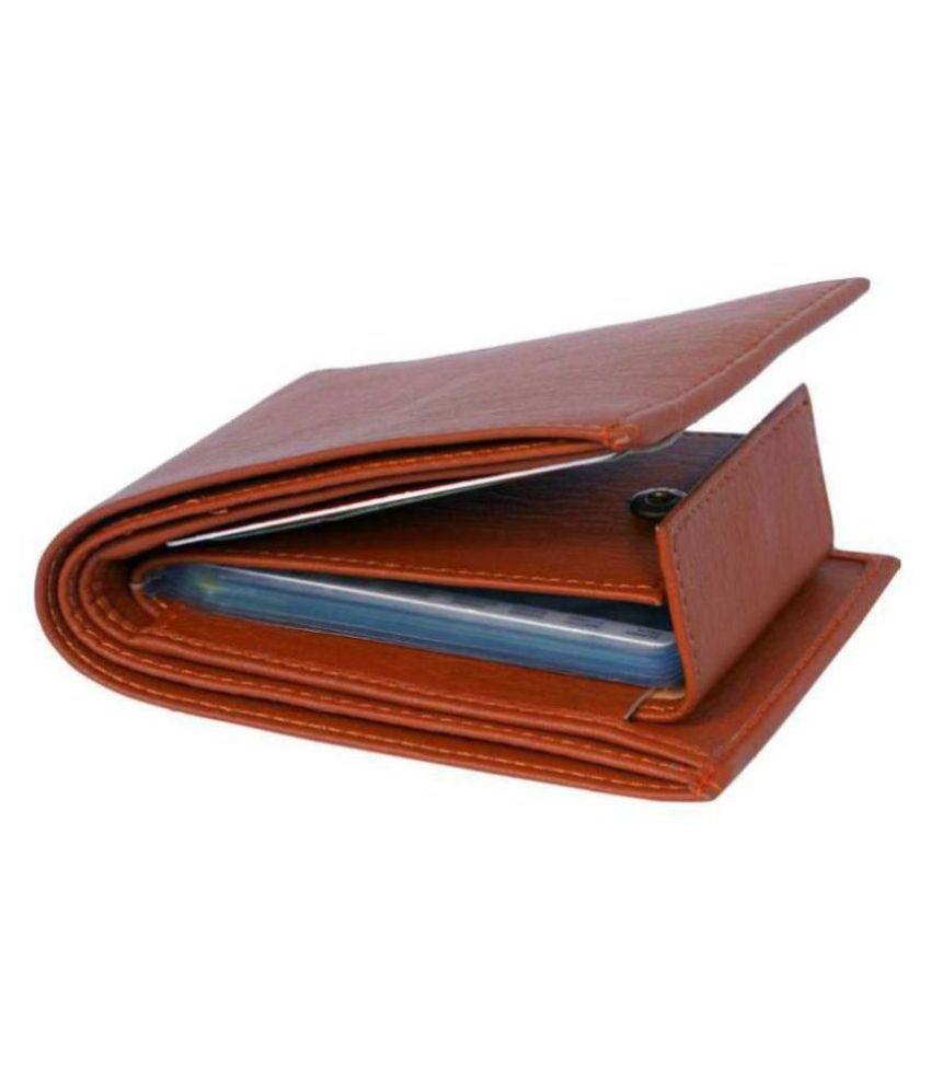 FSN Leather Brown Casual Regular Wallet