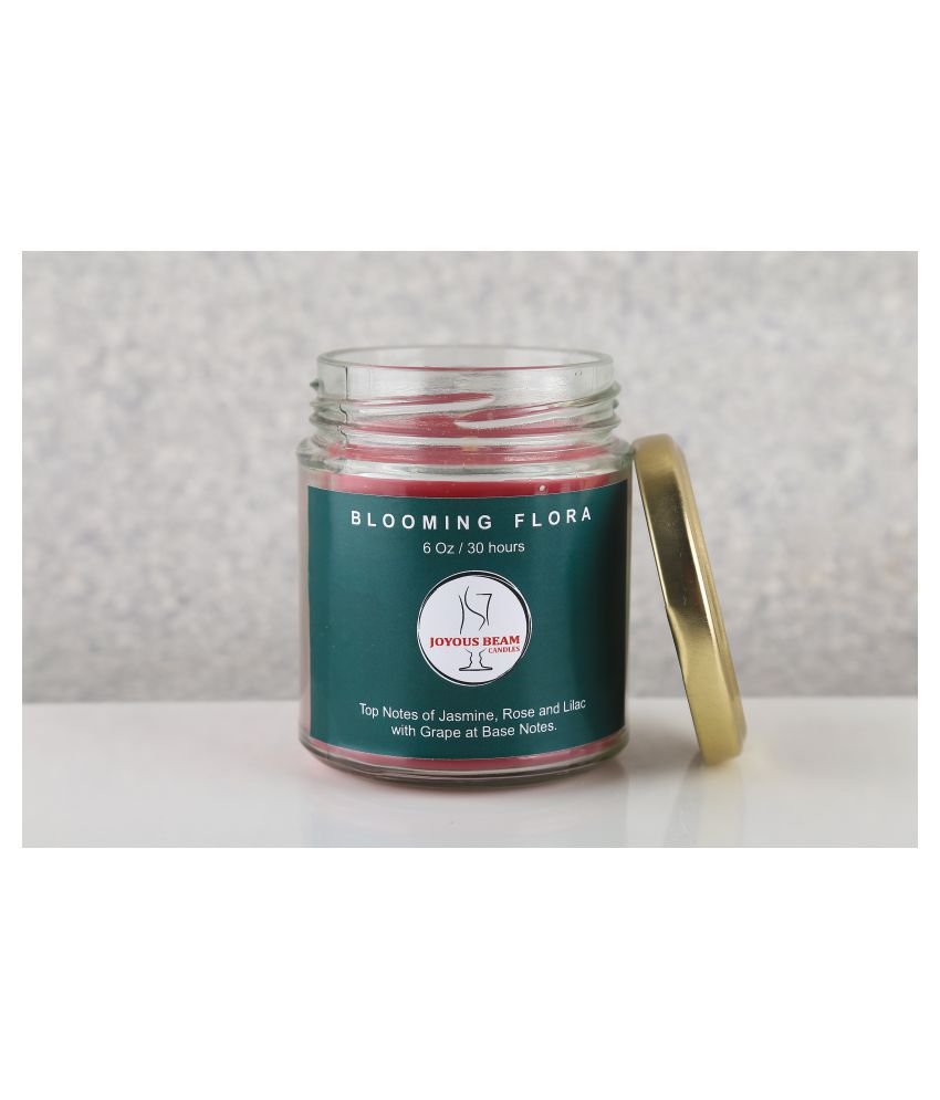 Joyous Beam Pink Jar Candle - Pack of 1