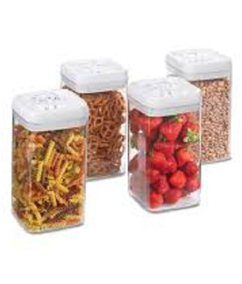 meenamart Storage Container Polycarbonate Food Container Set of 4 2200 mL