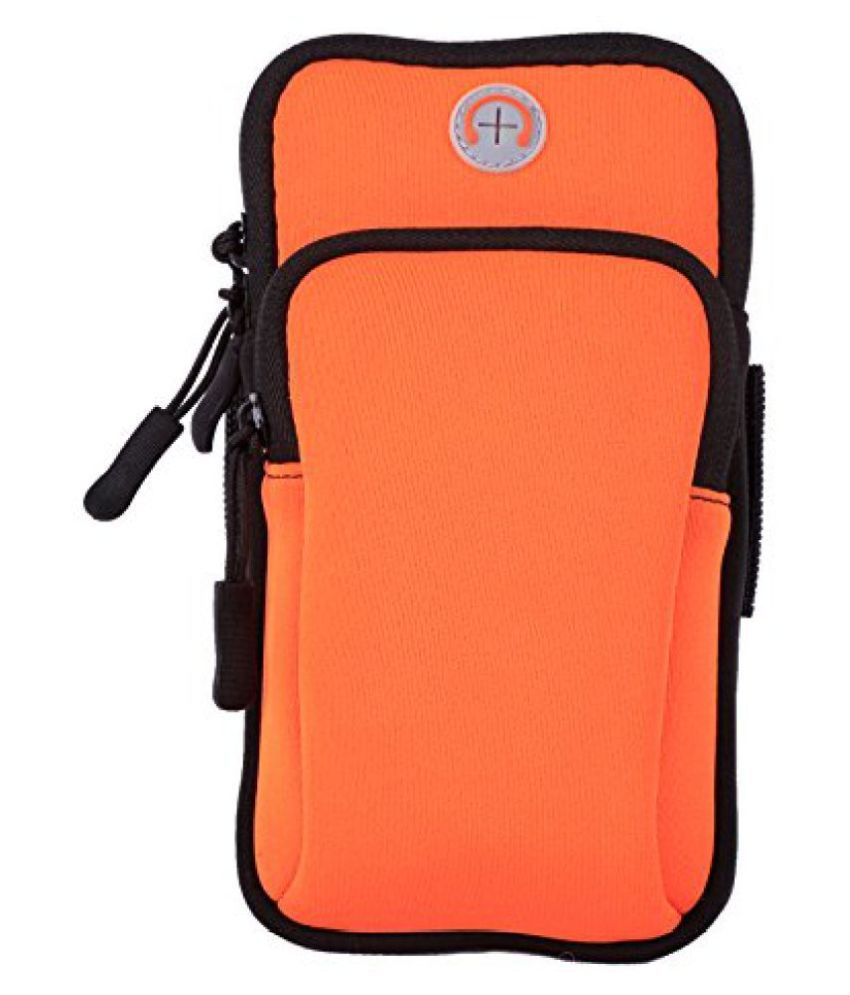 Aeoss Waterproof Nylon Sport Armband Unisex Running Jogging Gym Arm Band Case Cover for iPhone 6S, 6 Plus 5.7 inches (Orange)