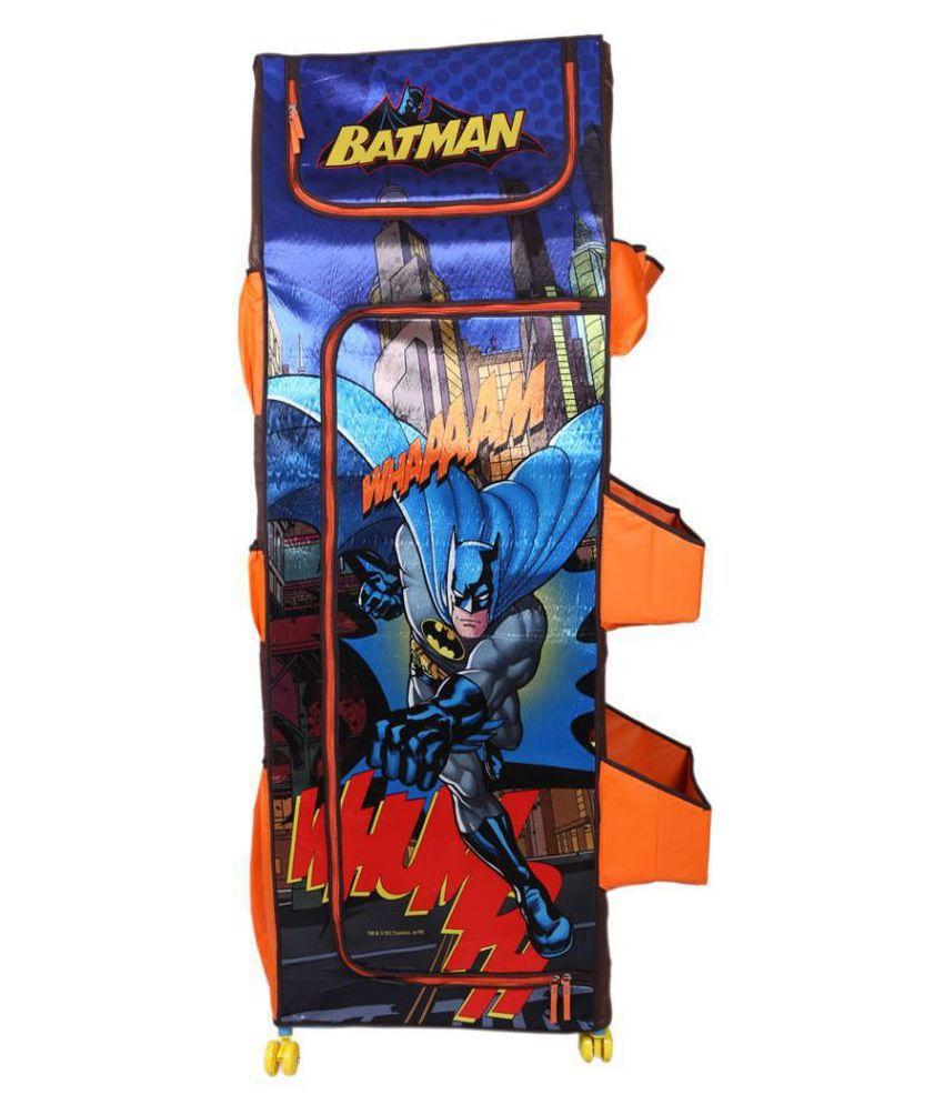 Batman Fun Closet 5 Shelf Folding Wardrobe Polyester Collapsible Wardrobe