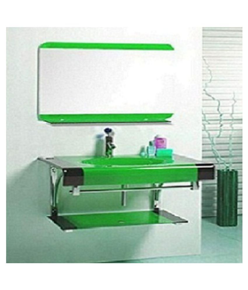 ARVIND SANITARY Green Toughened Glass Wall Hung Wash Basins