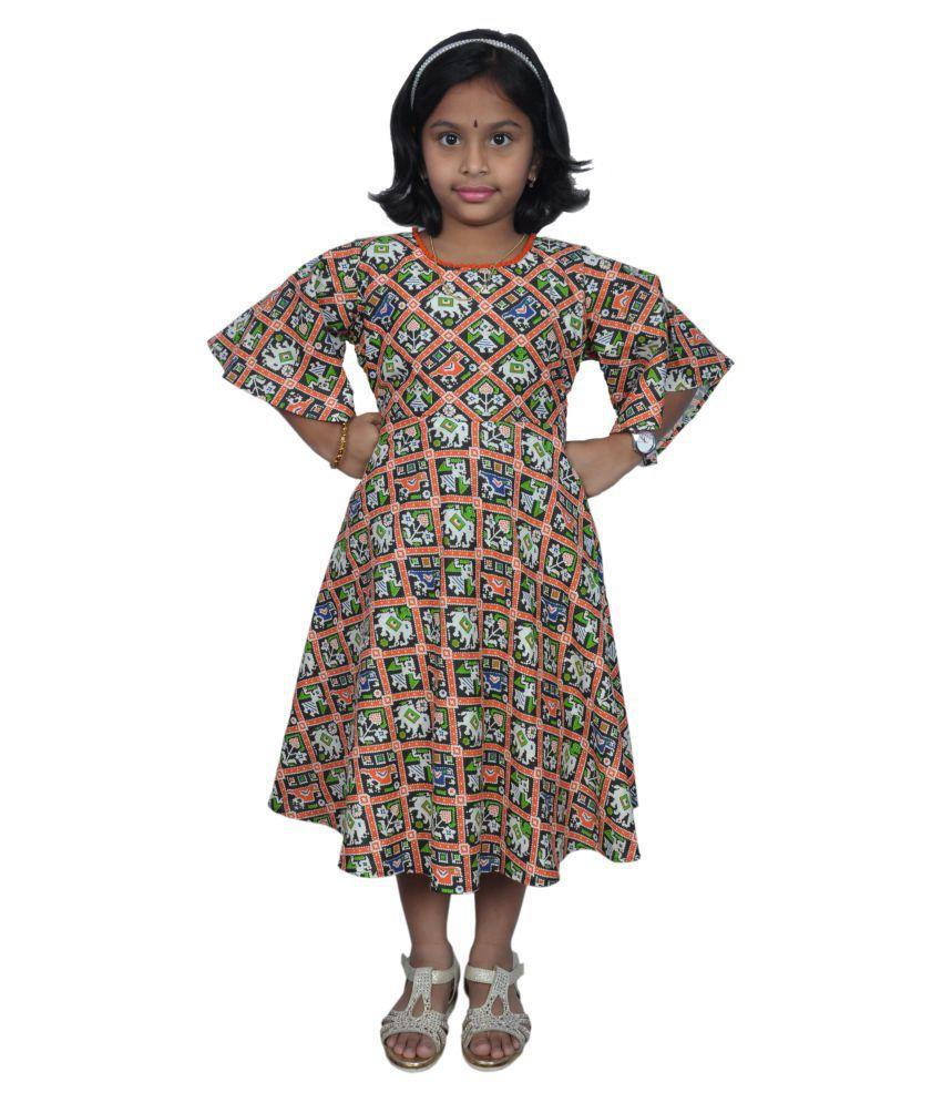 NIHA  Girls Kids Party Wear Frock Dress ( LF68- 2 Years)
