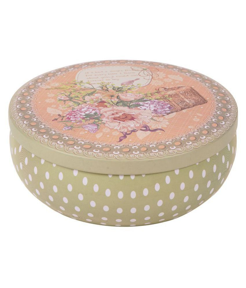 Pretty Purple Round High Quality Multipurpose Set of 3 Floral Boxes for Makeup Cookies Toiletries Cosmetics Perfect Gift