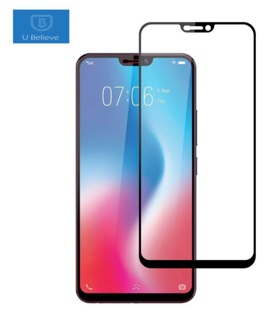 Vivo V9 Youth Tempered Glass Screen Guard By lenmax UV Protection, Anti Reflection