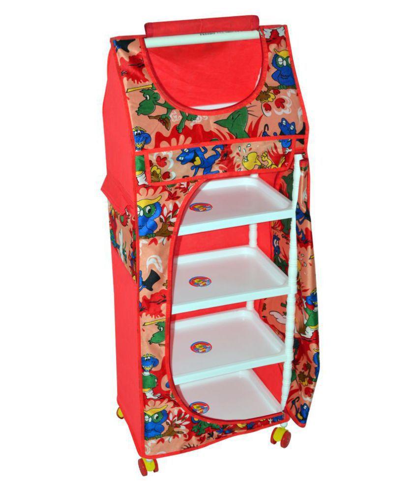 Totsy Multicolour 5 Shelves Kids Almirah Unbreakable