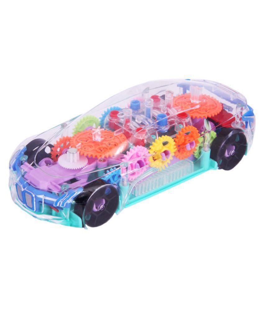 Adimac Concept Racing Educational Transparent Mechanical Gear Car Toy with Lighting & Music ( Transparent, Pack of 1)