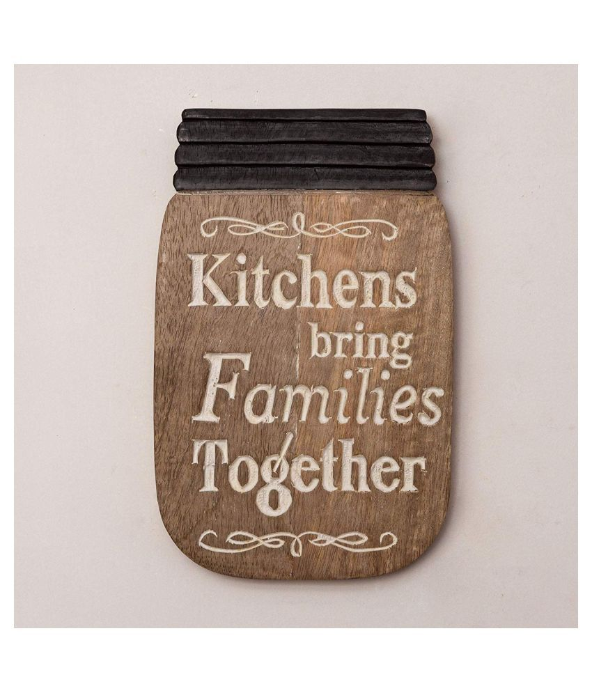 Casa Decor Wood Families Together Wall Home Decor Wall Sculpture Multi - Pack of 1