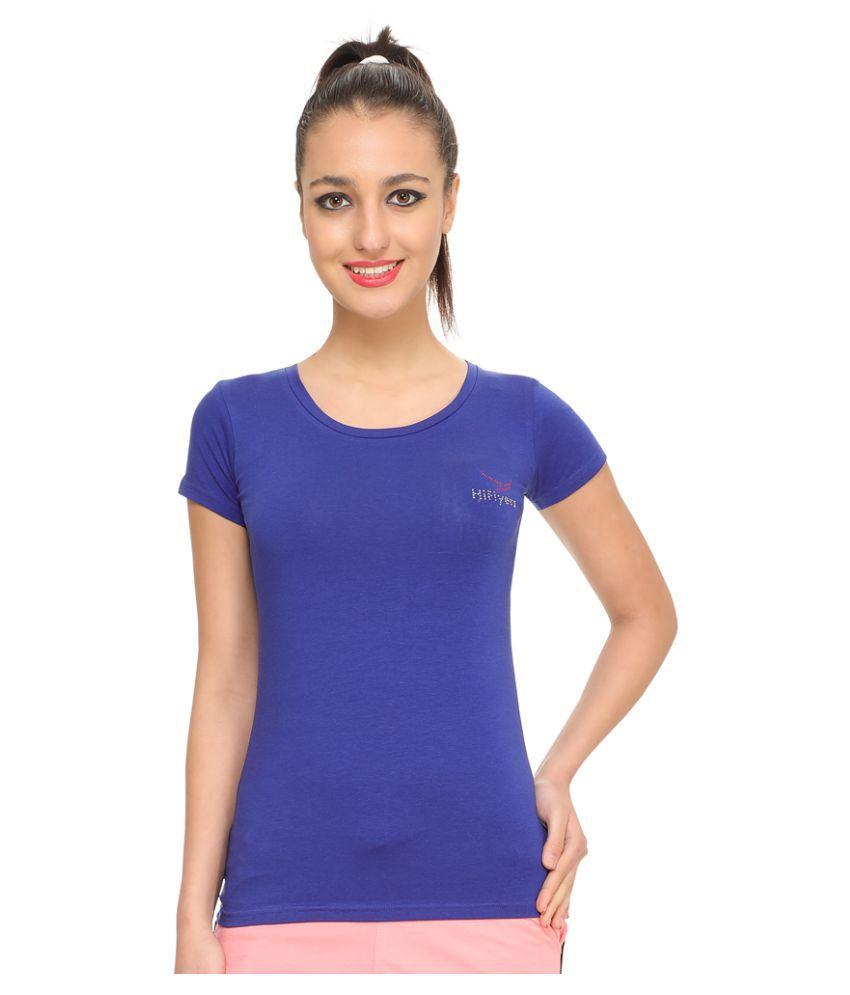 Hiflyers Cotton Blue T-Shirts