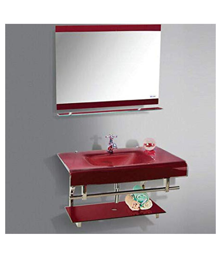 ARVIND SANITARY PVT LTD Multi-Colour Toughened Glass Wall Hung Wash Basins